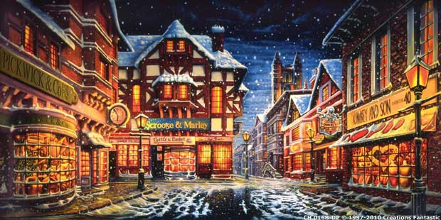 Th Century Paintings Of Houses In Winter Nights