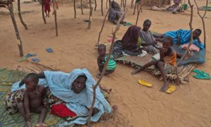 People who have fled fighting in Mali rest at the Banibangou refugee camp in Niger