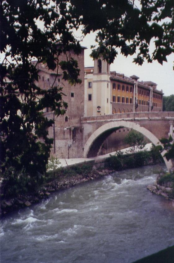river with pretty bridge